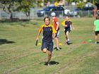 Jaydn Pollock competing at the Gladstone State High School athletics day.