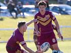 IN MAROON: Mitch Lollback looms up in support for Queensland Rangers. PHOTO: GEMIMA HARVEY / COFFS COAST ADVOCATE