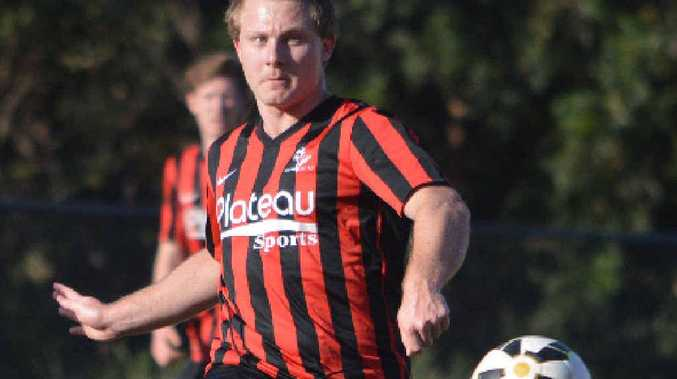 ON THE BALL: Alstonville's Daniel Baxter-Wright in action against Goonellabah.