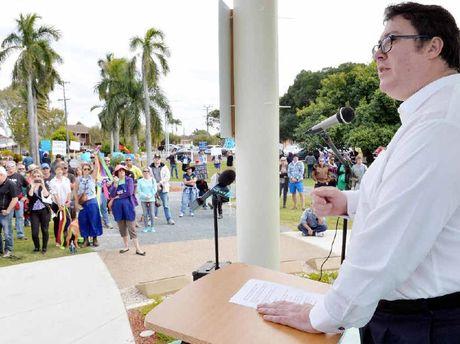 George Christensen at Reclaim Australia Rally in Mackay
