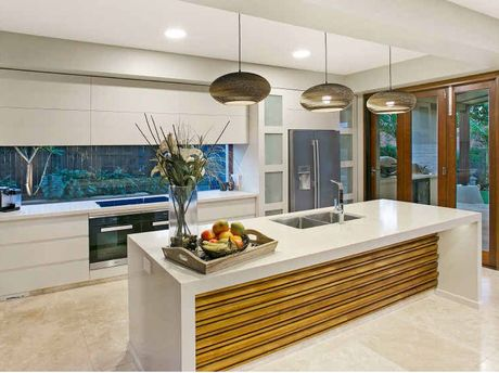 HIGH END: The kitchen boasts all the latest finishes and appliances.