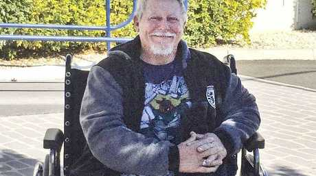 SURVIVOR: Peter Bowring, 62 survived a cold night near the Queen Mary Falls when his motorcycle went over an embankment.