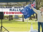 PEACEFUL ASSEMBLY: Chris Reynolds speaking at the Reclaim Australia rally at East Creek Park.