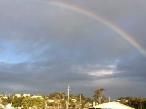Rainbow over Gladstone on July 15