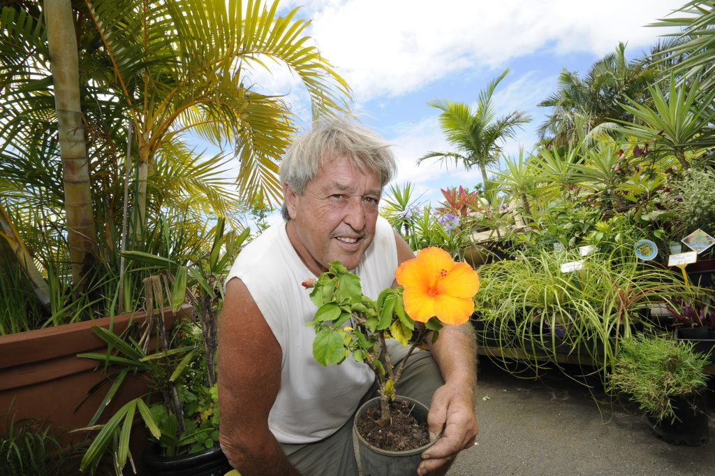 A 2011 file pictur of Trevor Murray at Trev's Recycled Garden, West Ballina.