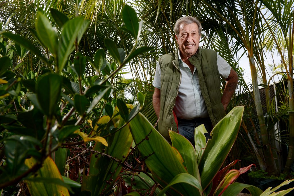 A 2011 file image of Trevor Murray at Trev's Recycled Garden, West Ballina.