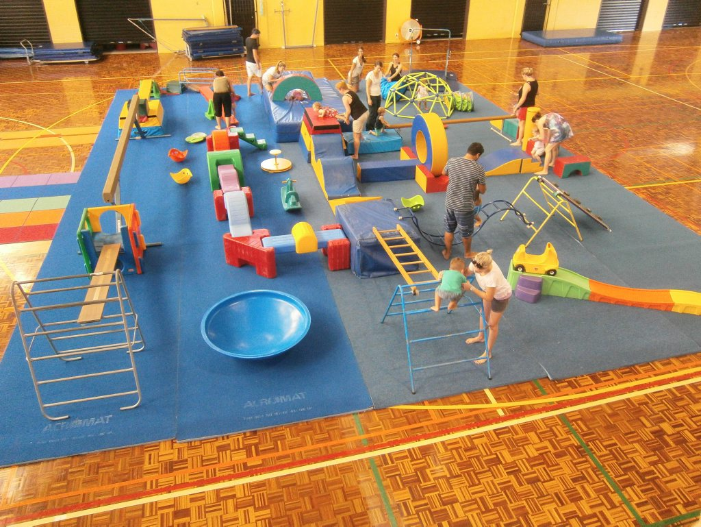 TODDLER WORKOUT: Kindergym can provide benefits for child and parent according to coach Kylie Smith. Photo contributed