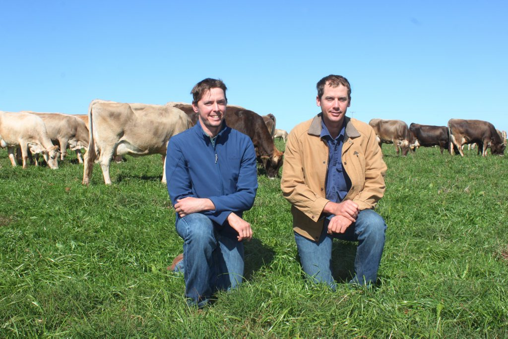 Michael and Aaron Clews, from Slatewood dairy farm in Rossmoya, welcomed prime minister Tony Abbott to their property as he discussed the Agricultural White Paper Photo Rachael Conaghan/The Morning Bulletin