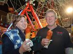 Enjoying what the Gatton Show has to offer is Tanya Braithwaite and Ed Harrison. Photo Ali Kuchel / Gatton Star