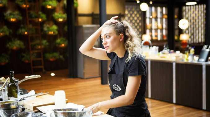 Contestant Sara Oteri in a scene from episode 57 of MasterChef Australia.