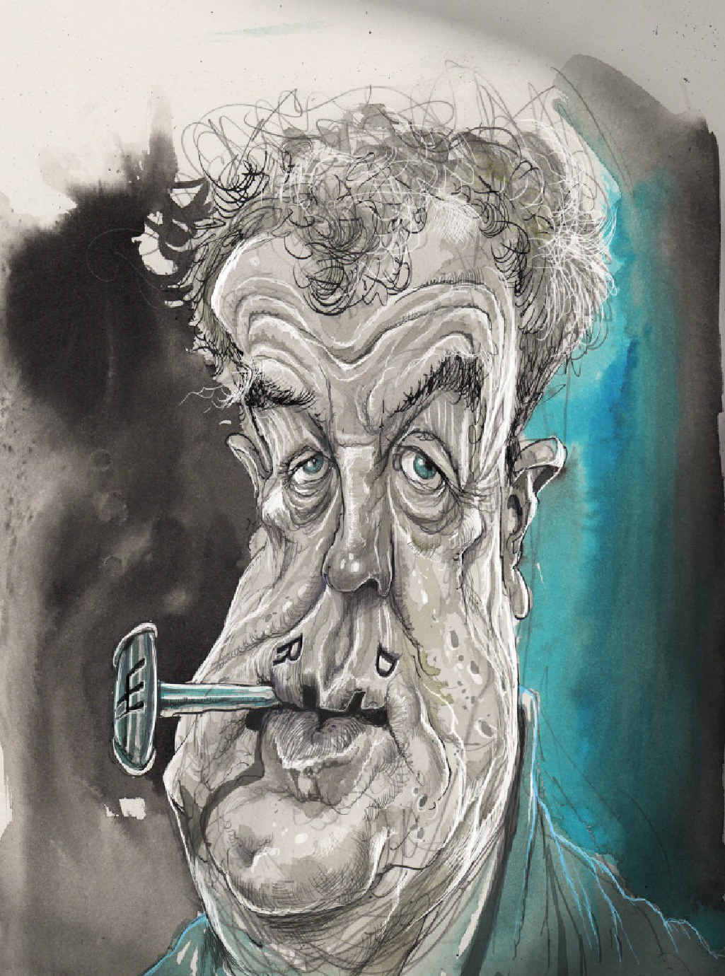 TOP GEAR: David Rowe's caricature of Jeremy Clarkson won the award for cartoon of the year.