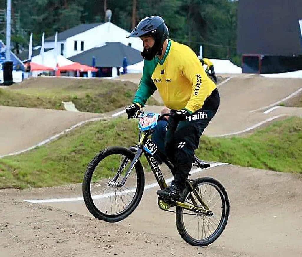 WORLD CONTENDER: Vernon Dries on a practice run in Belgium.