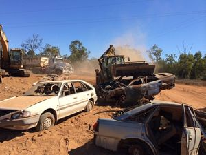 Over 200 illegally dumped cars scrapped from Moranbah