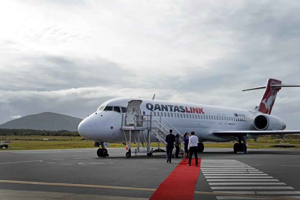Flying Kangaroo Qantas bounds into the Sunshine Coast. July 22, 2015.
