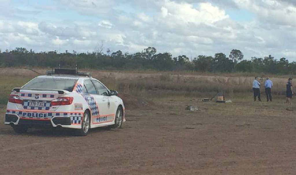 FATAL SCENE: Police at the scene where a man's body was found during the search of a dam.