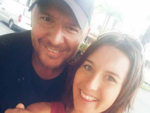 Cassie Romano snapped a selfie with My Kitchen Rules judge Manu Feildel in Mackay yesterday.