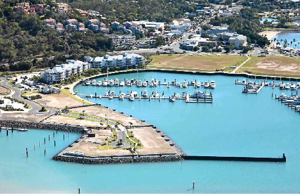 NEW STAGE: The first slab has been poured on Port of Airlie's latest residential development, The Cove.