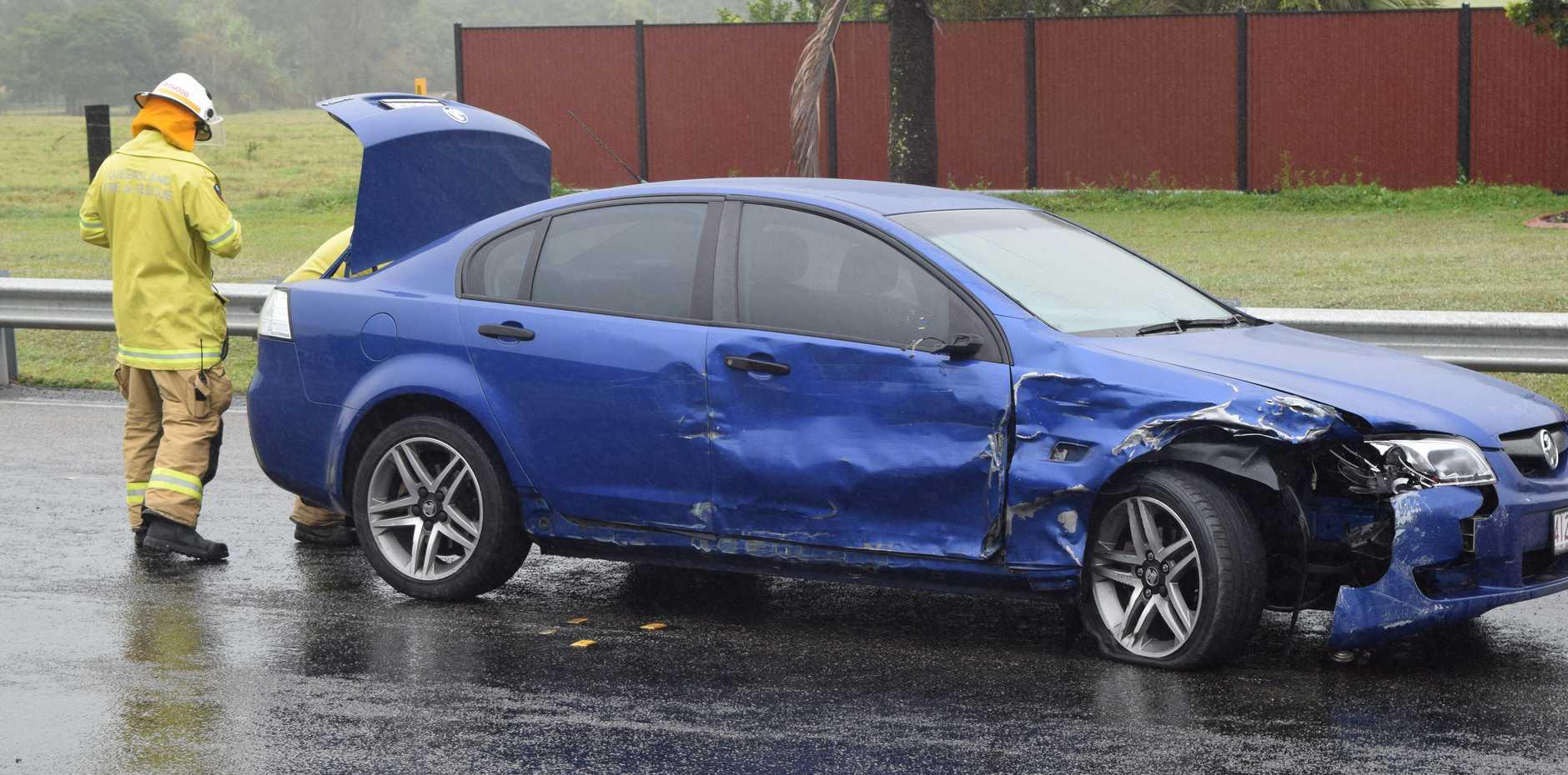 Two vehicle crash at Mount Marlow