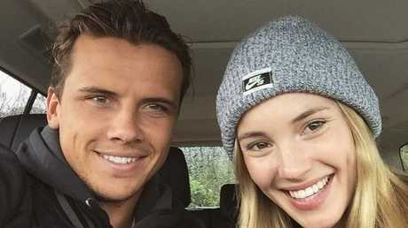 The lucky life: Julian Wilson and his girlfriend, model Ashley Osborne. Photo / Instagram / Ashley Osborne