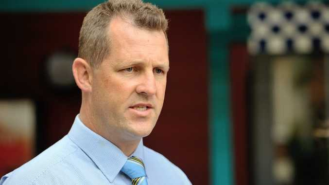 EXPLOSIVES FOUND: Gladstone CIB Detective Senior Sergeant Luke Peachey said the explosives were found along with drugs