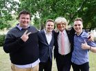 Ipswich Mayor Paul Pisasale held a press conference with GenY Podcast members Ben Boughen, Connor Fairclough and Thomas Doherty to defuse the situation after he made comments about Jo-Ann Miller in a youtube podcast. Photo: David Nielsen / The Queensland Times