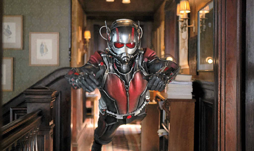 UNLIKELY HERO: Paul Rudd as Scott Lang/Ant-Man in a scene from Marvel's Ant-Man.