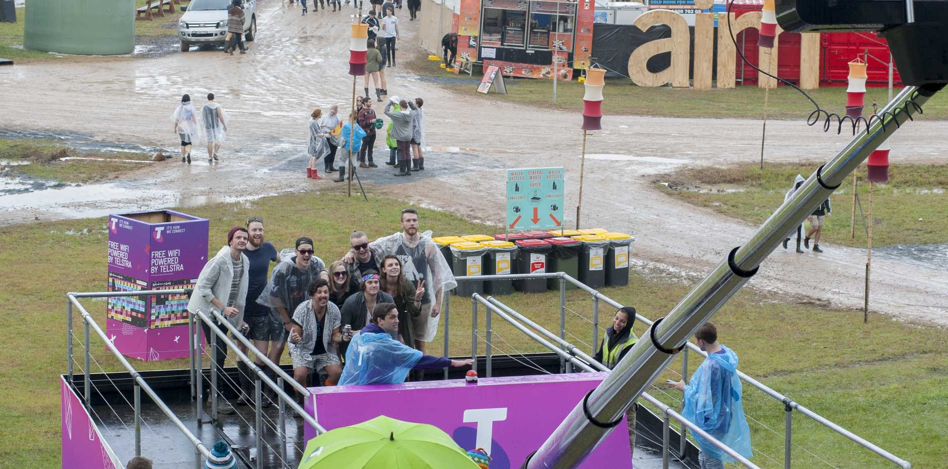 ATTRACTION: #TheBigSelfieStick is 10 metres high and features a built-in 50