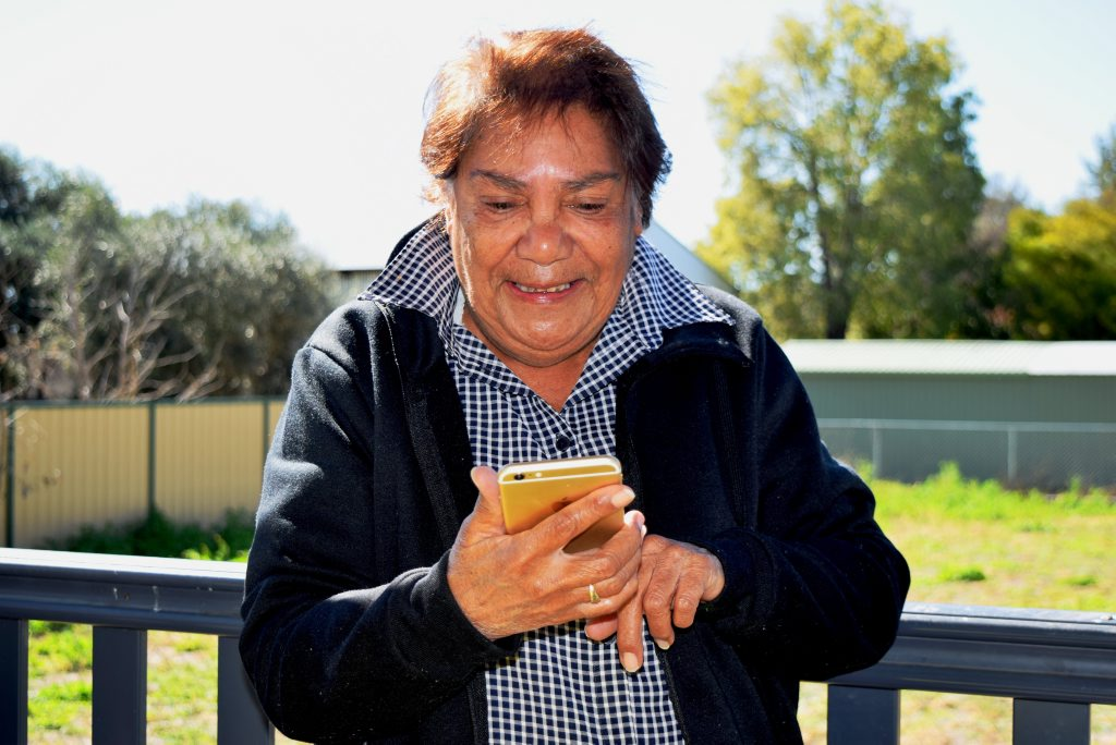 AWESOME APP: Gunggari Elder and Mitchell woman Lynette Nixon is thrilled the Yugambeh App will help preserve the Gunggari language.