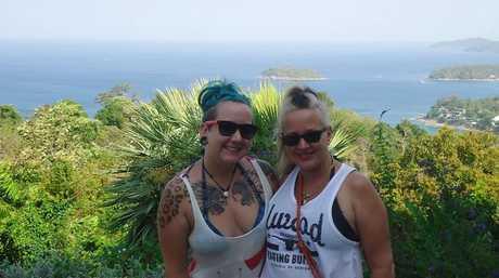 FAMILY TIME: Sunrise Beach crash victim Lynette Raines and her daughter Ella Raines enjoy a trip to Thailand.