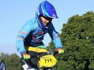 Allora rider stars on the BMX track