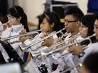The Tan-zi Youth Wind Ensemble from Taiwan played at Bremer High School on Thursday. Photo: Rob Williams / The Queensland Times
