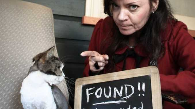 Fiona Davis was thrilled to get her cat, Gidget, back after a two-week sojourn in a neighbour's shed. The cat is now grounded forever. Photo by Ruby Red Industries
