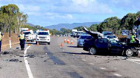 TERRIBLE TRAGEDY: A 15-year-old girl died in a horror crash between a car and a utility on the Bruce Highway, 10km south of Bowen yesterday.