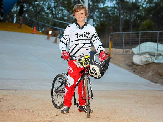 Nick Hall with his BMX.