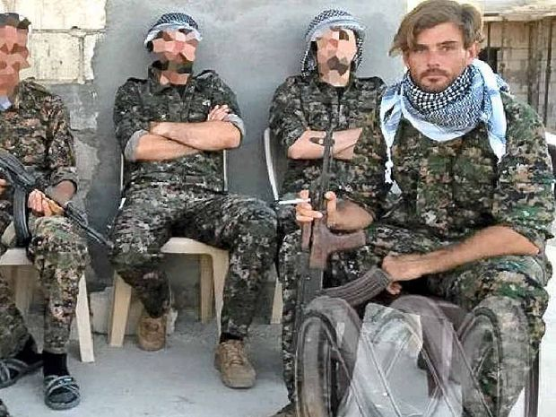 HOME: Gold Coast man Reece Harding (right) died after stepping on a landmine laid by Islamic State.