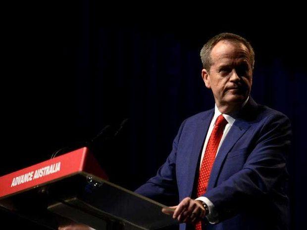 Labor Leader Bill Shorten checking for knives.