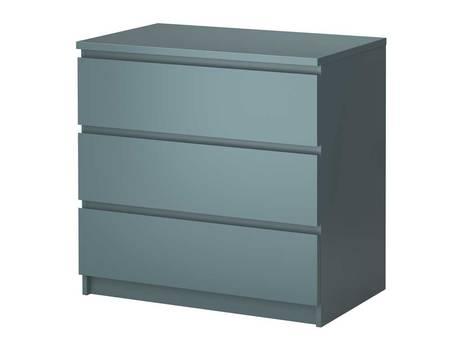 Malm three-drawer chest of drawers