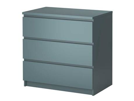 Malm three-drawer chest of drawers