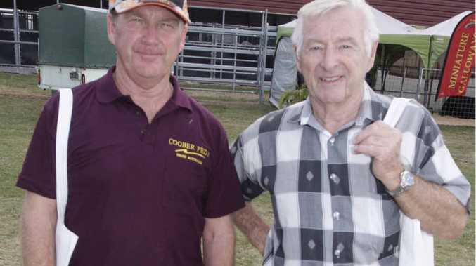 REGULAR PATRONS: Brothers Graham and Barry Sayer have been regular visitors to Farm Fantastic for the past five years.