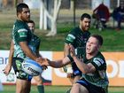 NRL REBOUND: Ipswich Jets hooker Matt Parcell was glad to know teammate Billy McConnachie (pictured in background) had his back in Saturday's 36-22 win over Norths.