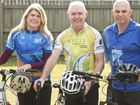 ( From left ) Kim Passante, Paul Jeffery and Jack Passante will take part on the Cycle Queensland adventure tour . Friday, Jul 24, 2015 . Photo Nev Madsen / The Chronicle