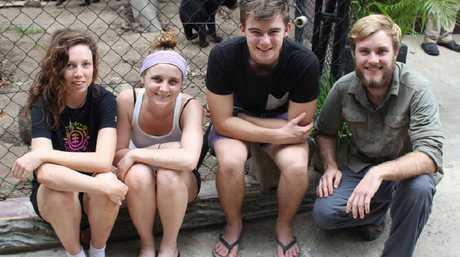 EYE-OPENER: University of the Sunshine Coast students Rachel Bycroft, Ellen Bingham, Ash Rummell, Matt Brown.
