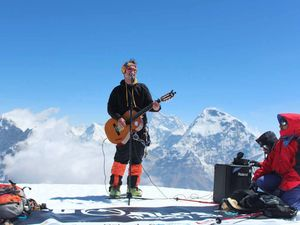 Fairly fit and love music? Man attempts highest gig on land