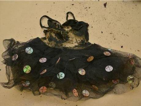 A tutu was found in the suitcase with the toddler's remains