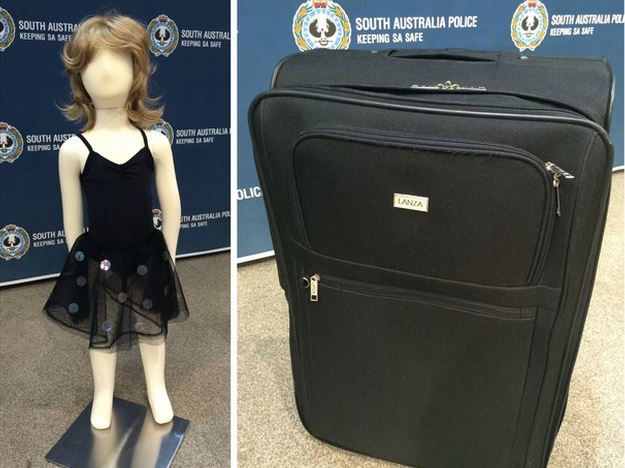 Police show what they think the 'little girl' would have looked like before she was killed and what the suitcase would have looked like originally