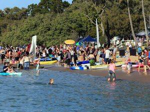 Paddle Out for Whales on at Scarness Beach this month