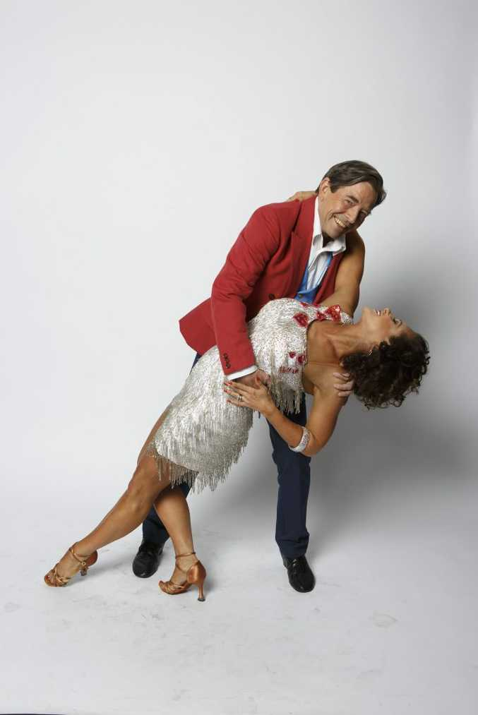 Dancing With The Stars contestant John Paul Young with dance partner Giselle Peacock. Contributed ch7