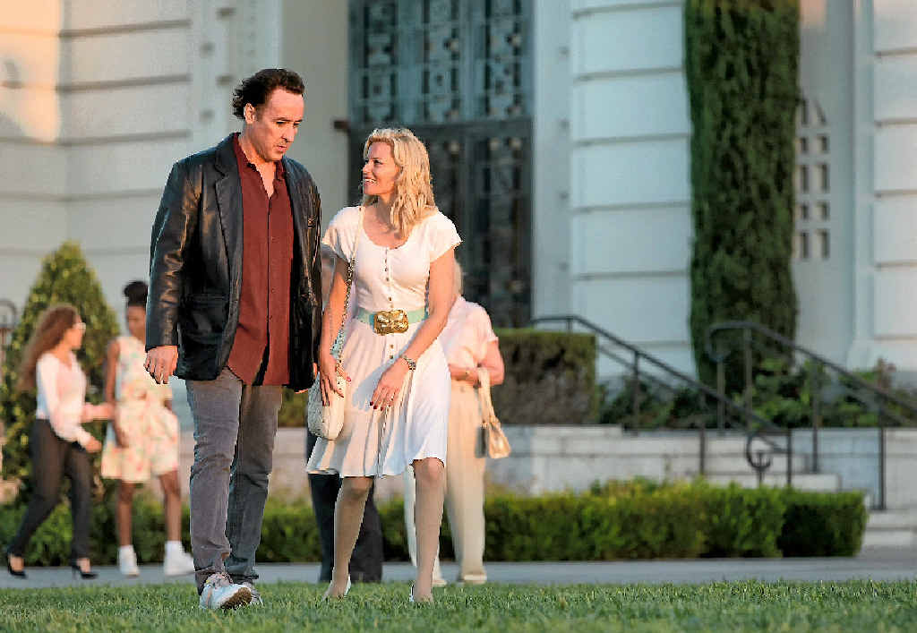 A BEACH BOY'S TALE: John Cusack and Elizabeth Banks in a scene from the movie Love & Mercy.