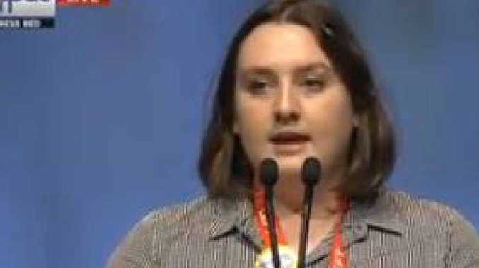 PASSION FOR POLITICS: Laura Manton at the Australian Labor Party National Conference.