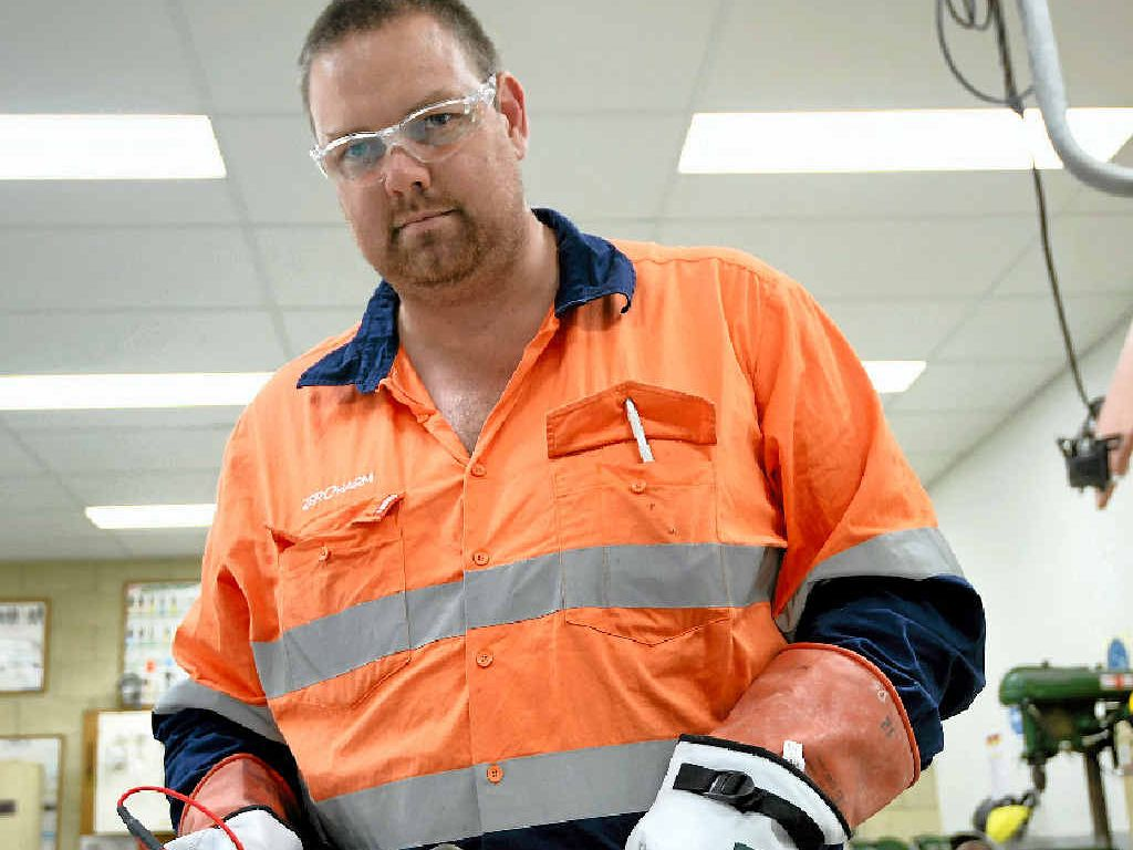 POWERING ON: Apprentice electrician Dion Schloss has picked up the title of apprentice of the year for the region at the Queensland Training Awards.